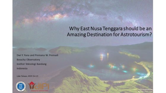 Dwi Yoshafetri Yuna - Why East Nusa Tenggara should be an amazing destination for astro-tourism